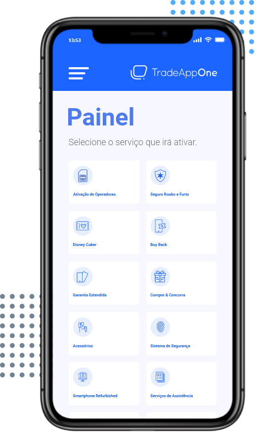 Mobile Painel TradeAppOne
